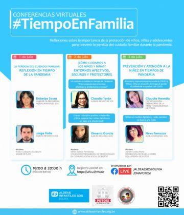 Presentan conversatorio virtual #TIEMPOENFAMILIA
