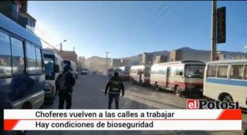 El transporte urbano reinició actividades en la ciudad de Potosí
