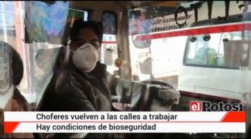 Así es el interior de un vehículo de servicio público en Potosí