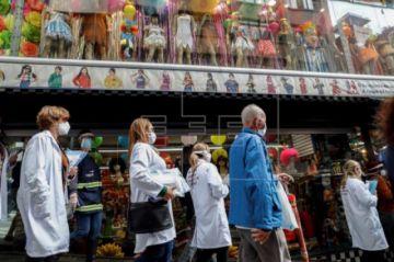 Sao Paulo realiza una operación para verificar el uso obligatorio de la máscara