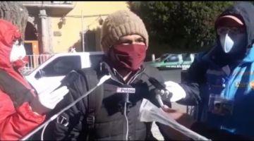 Pobladores de Tres Cruces  desmienten acusaciones del alcalde de Caiza D