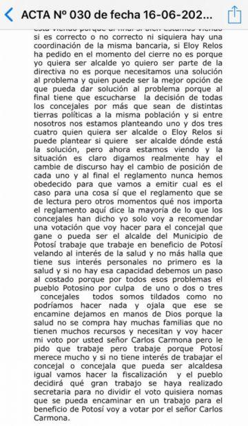 Surgen reacciones a propuesta de Relos de reconsiderar elección de Carmona