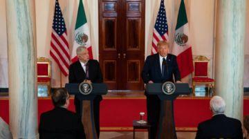 López Obrador se deshace en halagos a Trump sin tocar el tema migratorio