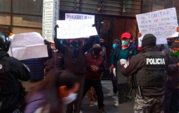 La Paz: obreros de construcción del centro de tecnología nuclear protestan por salarios impagos