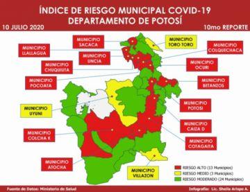 Sube a 152 la cantidad de municipios en categoría de Riesgo Alto de COVID-19