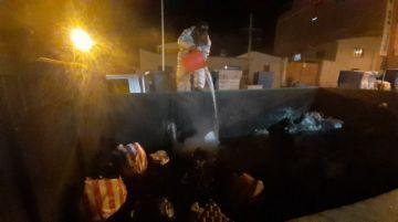 EMAP denuncia incendio de contenedor temporal