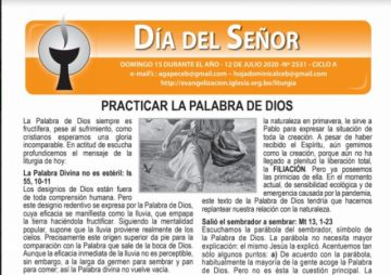 El padre Miguel Albino comparte su oración y la hojita dominical