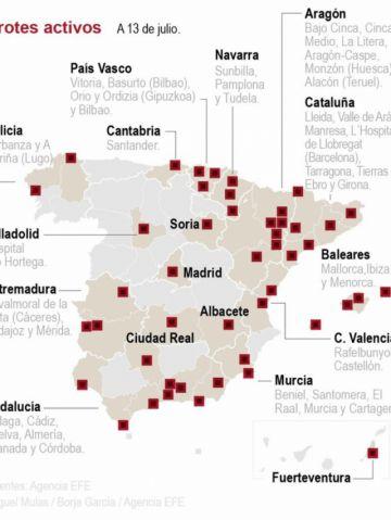 Siguen los brotes de coronavirus en España y más regiones obligan al uso de mascarillas