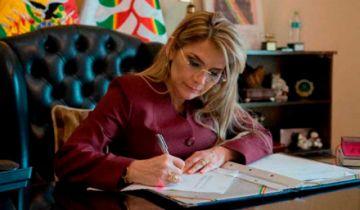 Añez interpone consulta previa de constitucionalidad sobre ley de descuento en alquileres