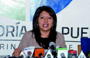 Nadia Cruz ratifica que es Defensora del Pueblo de Bolivia