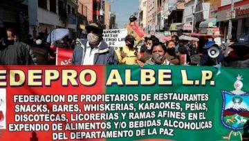 El Alto: con marcha, dueños debares, discotecas y restaurantes piden que les dejen trabajar