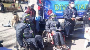 Piden apoyar con ayuda a las personas con discapacidad en Potosí