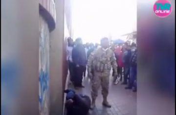 Militar da una paliza a un ladrón en El Alto y el video se viraliza