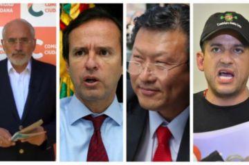 Mesa, Tuto y Chi respaldan la postergación de las elecciones; Camacho cuestiona la nueva fecha
