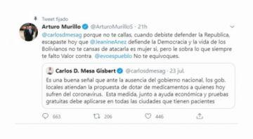 """Ola de críticas a Murillo por un tuit, lo tildan de """"pupilo de Quintana"""""""