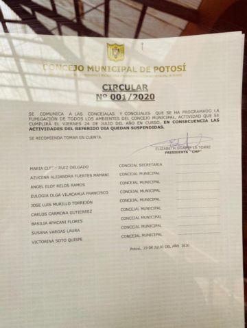 Concejo anuncia teletrabajo tras caso positivo de coronavirus