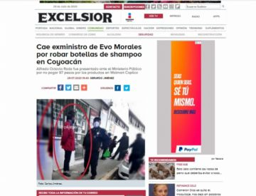 Detienen a Alfredo Rada por robar dos botellas de champú en México