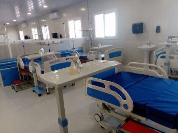 Vea cómo es el interior del hospital móvil de la CNS