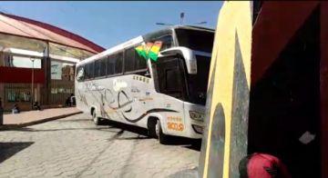 Transporte interdepartamental bloquea demandando permiso para trabajar
