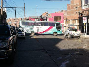 Inician los bloqueos los transportistas en Potosí