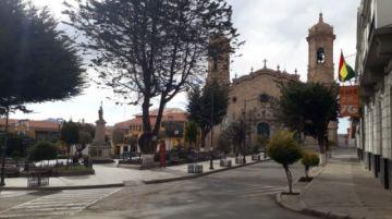 Así están las calles de Potosí en la primera tarde de encapsulamiento