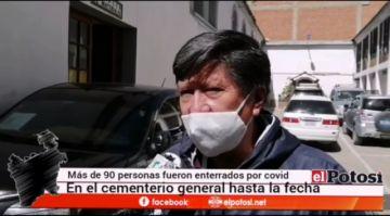 Más de 90 personas fueron enterradas por COVID-19 en Potosí