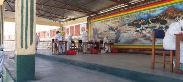 Realizan pruebas rápidas a integrantes del Regimiento de Infantería 3 Pérez