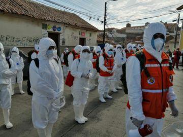 Las brigadas de rastrillaje ya recorren la ciudad de Potosí