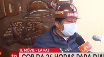 """Huarachi pide elecciones para el 11 de octubre pero admite que """"no hay mucha diferencia"""" con el 18"""