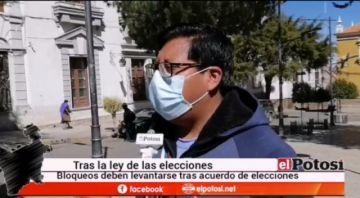 Piden levantar bloqueos tras ley electoral ya aprobada