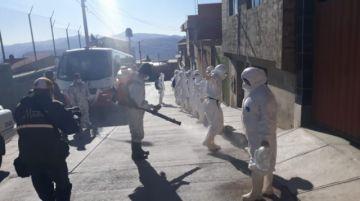 Desinfectaron los centros de Aislamiento COVID