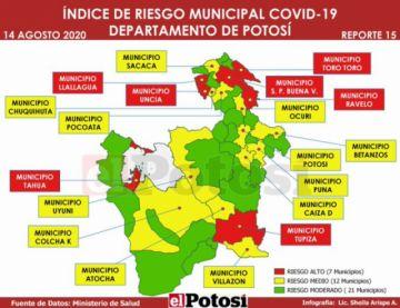 Municipios en riesgo alto de contagio de coronavirus sube de 111 a 121