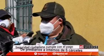Entregan prediarios a más de mil internos en seis cárceles de Potosí
