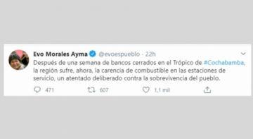 """Evo Morales admite que la carencia de combustible es un """"atentado"""" contra la """"sobrevivencia del pueblo"""""""