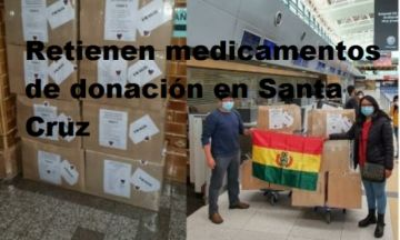Cargamento de medicamentos para Potosí está retenido en Santa Cruz
