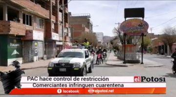 PAC realiza patrullajes en la avenida Murillo