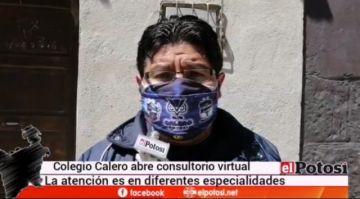 Colegio Calero abre consultorio virtual gratuito para la población