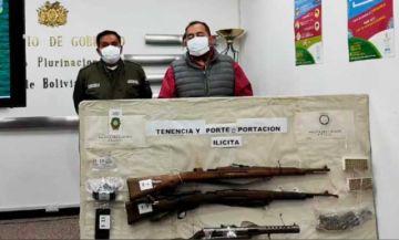 El Gobierno presenta casos de posesión de armas y explosivos