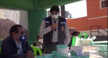 Minera Alcira entrega equipos de bioseguridad al municipio de Betanzos
