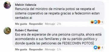 Tras destitución de gerente, amenazan al ministro de minería