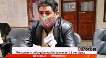 Confirman reducción del 20 por ciento del presupuesto de Potosí