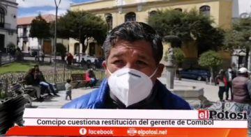 Comcipo alista una denuncia ante el Ministerio Público contra el gerente regional de Comibol