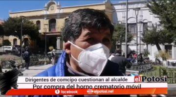 Dirigentes cívicos cuestionan compra de horno crematorio móvil para Potosí