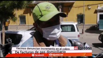 Ciudadano denuncia que su factura del gas está por los cielos
