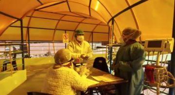 La CNS evalúa a policías en centro de aislamiento COVID para su alta