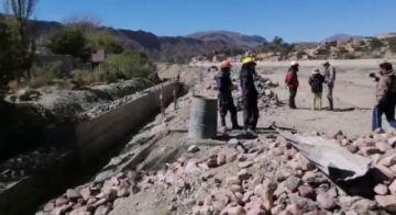 Construcción de muros de contención del río en Tupiza tiene un avance del 20 por ciento