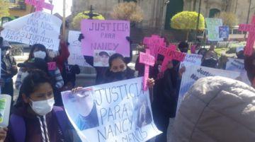 Marcha en Potosí exige justicia para Nancy