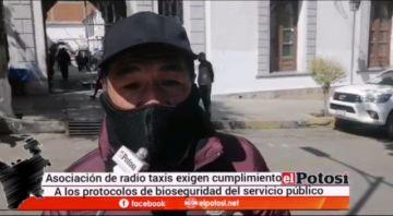Asociación de radiotaxis exige cumplimiento de bioseguridad