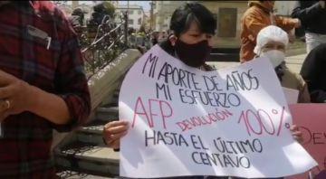 Alistan marcha por la devolución de aportes de las AFP