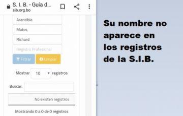 Gerente regional de la Comibol no tiene Registro Nacional de Ingeniero